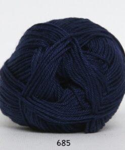 Hjertegarn Diamond Cotton - merceriseret bomuld - fv 685 Mørk Blå