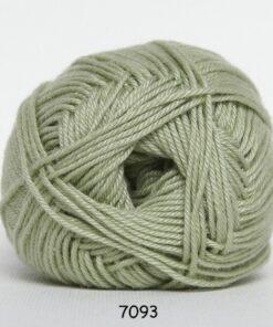 Hjertegarn Diamond Cotton - merceriseret bomuld - fv 7093 Lys Limegrøn