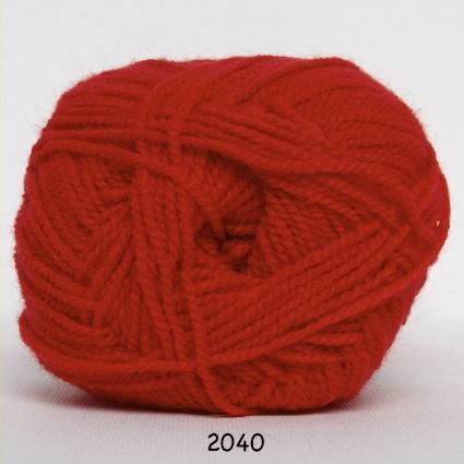 Perle Akryl - Akrylgarn - fv 2040 Rød
