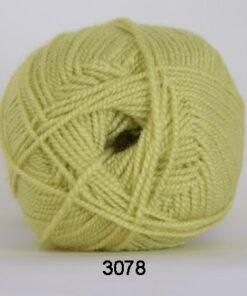 Perle Akryl - Akrylgarn - fv 3078 Gul Grøn