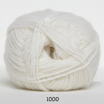 Sock 4 - Strømpegarn - Uldgarn - fv 1000 Hvid