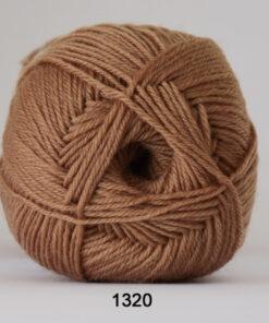 Sock 4 - Strømpegarn - Uldgarn - fv 1320 Okker Grøn
