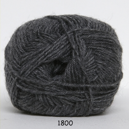 Sock 4 - Strømpegarn - Uldgarn - fv 1800 Koks Grå