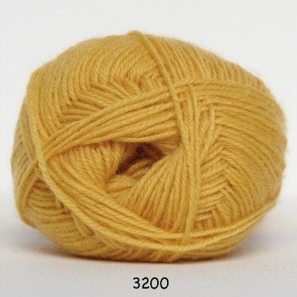 Sock 4 - Strømpegarn - Uldgarn - fv 3200 Gul