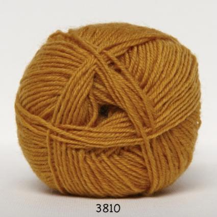 Sock 4 - Strømpegarn - Uldgarn - fv 3810 Karry Gul