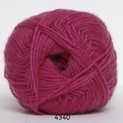 Sock 4 - Strømpegarn - Uldgarn - fv 4340 Pink