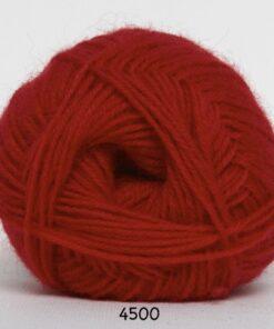Sock 4 - Strømpegarn - Uldgarn - fv 4500 Rød