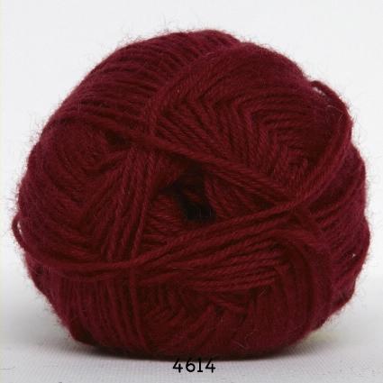 Sock 4 - Strømpegarn - Uldgarn - fv 4614 Vinrød