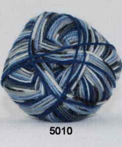 Sock 4 - Strømpegarn - Uldgarn - fv 5010 Flerfarvet