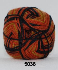 Sock 4 - Strømpegarn - Uldgarn - fv 5038 Flerfarvet