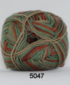 Sock 4 - Strømpegarn - Uldgarn - fv 5047 Flerfarvet