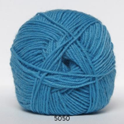 Sock 4 - Strømpegarn - Uldgarn - fv 5050 Turkis