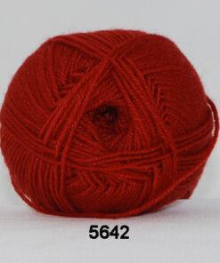 Sock 4 - Strømpegarn - Uldgarn - fv 5642 Rust Rød