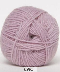 Sock 4 - Strømpegarn - Uldgarn - fv 6995 Lyserød
