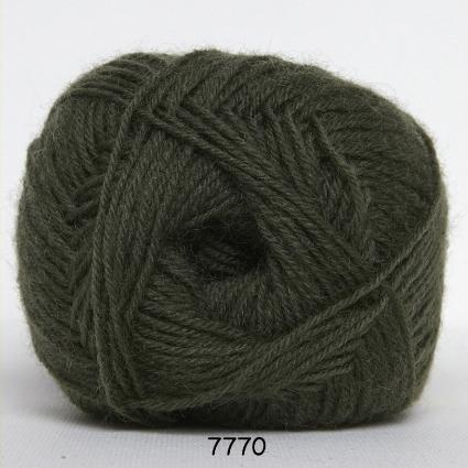 Sock 4 - Strømpegarn - Uldgarn - fv 7770 Jagt Grøn