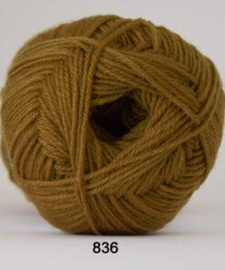 Sock 4 - Strømpegarn - Uldgarn - fv 836 Lys Nougat